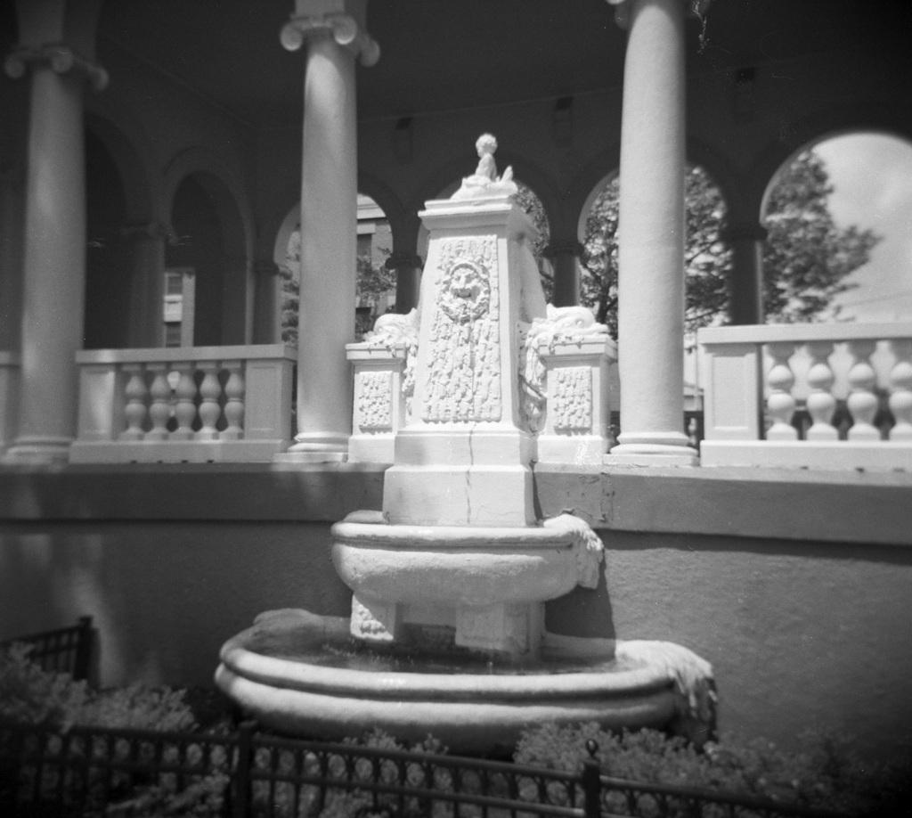 Fountain at Columbus Square Park